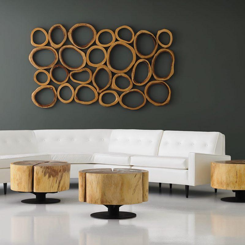 Condo Lobby with Slice Wall Panel Art